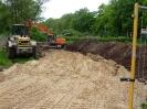 6 Lkw-Ladungen Sand eingebaut